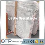 2017 lajes de mármore cinzentas do castelo quente da venda para a decoração da casa de campo