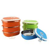 ステンレス鋼カラーたくわえの暖かいお弁当箱(FT-03001)