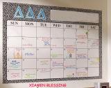 Droge en Wekelijkse Magneet wis jaarlijks Kalender/Ontwerper Whiteboard met En71/72/73