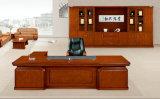 Meubles de bureau à haute brillance Shaped en bois solide d'arc pour le Président