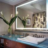 Specchi illuminati indicatore luminoso fissato al muro della stanza da bagno LED per l'hotel delle stelle