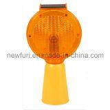 Luz solar de la barricada el intermitente LED del tráfico con el corchete del metal