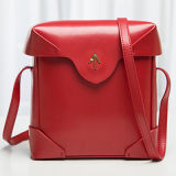 Borse famose solide Emg4720 delle signore del sacchetto di spalla del reticolo dei sacchetti di cuoio di marca 2016