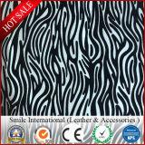 Matériau en cuir de PVC gravé en relief par configuration pour le cuir artificiel de tissu en cuir synthétique de sac à main de bagage pour des sacs pour le sofa