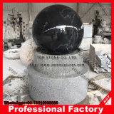 Черный шарик гранита с низкопробным фонтаном G603