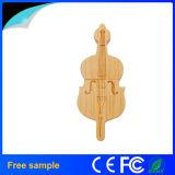 Palillo de madera promocional 8GB del USB del estilo del violín de la guitarra de Garunk
