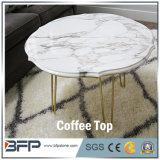 중국 둥근 관례 커트 대리석 커피용 탁자 상단