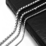 Acciaio di titanio 2.5mm della collana degli uomini della catena a maglia 3.5mm 4.5mm