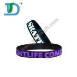 Vielzahl der Farbe und der Größe kann kundenspezifisches Silikon-Armband sein