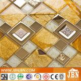 Mosaicos de cristal de oro laminados para la pared (M655005)