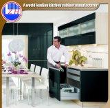 Mobília acrílica preta do gabinete de cozinha do MDF (personalizada)