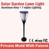 Ce solar impermeable RoHS de la luz IP65 del jardín del modelo nuevo LED
