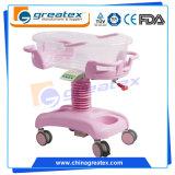 プラスチック病院の赤ん坊のまぐさ桶、ガスばねの赤ん坊のカート(GT-2310A)