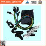 Jogo colorido da faixa da resistência da câmara de ar do exercício