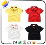 Les T-shirts des enfants épurés de coton avec la couleur personnalisée de logo