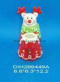 Supporto di ceramica dipinto a mano di Tealight della renna
