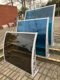 Tampa plástica impermeável do abrigo do pátio do dossel do policarbonato do projeto moderno