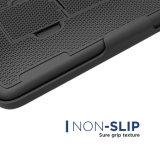 el clip de la correa del iPhone 7 encajonado Seguro-Ajustó el caso antirresbaladizo del recorrido de la cubierta