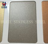 Brillamento di sabbia decorativo colorato dello specchio della linea sottile del raso dei lamierini e delle lamiere dell'acciaio inossidabile rifinito