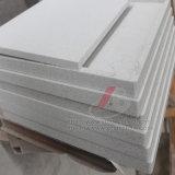 タイルのための白い人工的な大理石の石および平板およびカウンタートップ