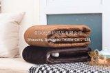 Super-Soft Velour 2017 mit Shu Baumwollsamt-Zudecke/Sherpa Vlies Werfen-Kleiner Brown