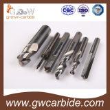 Flautas sólidas de Endmills HRC55 4 de la nariz de la bola del carburo para el aluminio