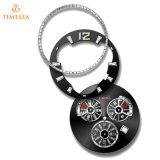 De Luxe Wristwatch72298 van de Riem van het Leer van de Automatische Mensen van het Horloge van het roestvrij staal