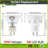 Luz LED regulable 86-265V AC 5W GU10 6W 7W blanco frío del bulbo del proyector LED