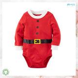 100%年の綿の赤ん坊はクリスマスの赤ん坊のBodysuitに着せる