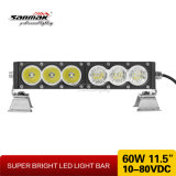"Ultra brillante Individual 11.5"" Combo 60W LED Spot Light Bar"