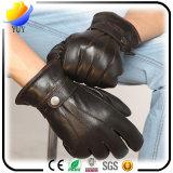3つの棒は柔らかい厚化PUの革綿の手袋を暖める