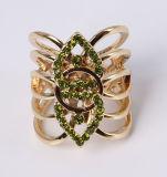 Кольцо ювелирных изделий способа сплава цинка с кристаллический Rhinestones