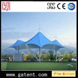Tente bleue d'horizontal de crête élevée de Colouful