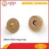 металла кнопок 18mm кнопки большого толщиного магнитного магнитные щелчковые для сумки