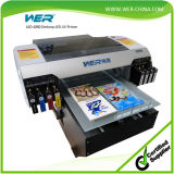 Precio barato A2 Multifuctional plástico tarjeta de identificación de la impresora, teléfono de impresión de la caja de la máquina
