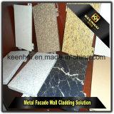 La façade en aluminium Marbleizing lambrisse le prix en aluminium de revêtement