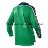 Зеленый выполненный на заказ мотоцикл Sportwear конструкции участвуя в гонке Джерси (MAT61)