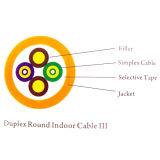 De duplex Ronde Binnen Optische Kabel van de Vezel