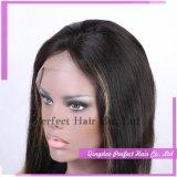 Parrucca in bianco e nero della miscela della parte anteriore del merletto