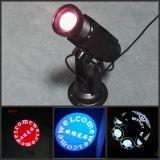 Le plus récent projecteur LED personnalisé 10W Logo Light / LED Gobo Text Effect Light
