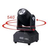 Etapa que enciende el color móvil 10W ligero de la pista RGBW 4 del punto portable del LED con 7/10 canal para la demostración KTV de DJ del disco del partido
