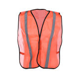 Maglia riflettente di funzionamento di obbligazione di sicurezza arancione con i lati dell'elastico della maglia