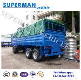 Dei 4 assi di carico di trasporto della piattaforma girevole rimorchio pieno del camion semi