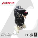 Válvula de diafragma pneumática do aço inoxidável da indústria alimentar 316L