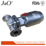 De sanitaire Pneumatische Actuator van het Roestvrij staal Klep van het Diafragma