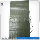 Sac de empaquetage du sable 50kg tissé par polypropylène de la Chine
