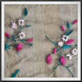 Ineinander greifen-Stickerei-Polystickerei-Tulle-Stickerei-Blumen-Stickerei