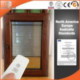 Клиент афганца окна наклона и поворота штарки алюминиевых одетых деревянных шторок окна Casement Built-in монолитно