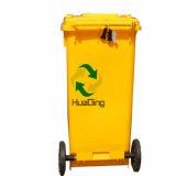 balde do lixo de borracha plástico da roda do escaninho de lixo 120L para HD2wnp120A-Y ao ar livre