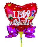 Воздушный шар венчания с ручкой (10-SL-275)